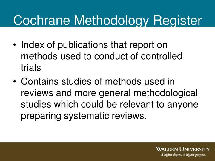 Cochrane Methodology Register