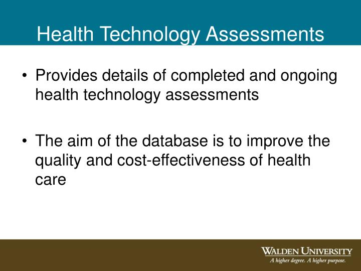 Health Technology Assessments