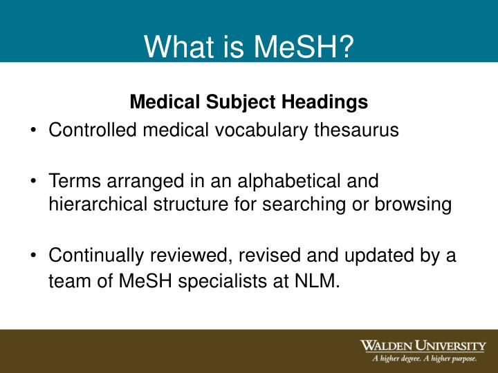 What is MeSH?