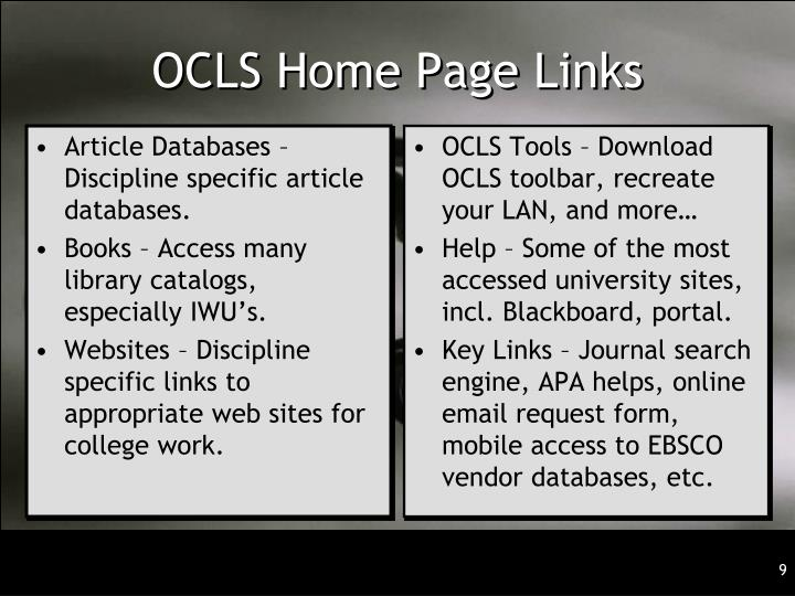 Article Databases – Discipline specific article databases.