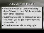 ocls services include1