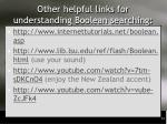 other helpful links for understanding boolean searching