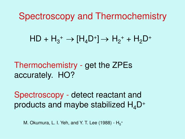 Spectroscopy and Thermochemistry