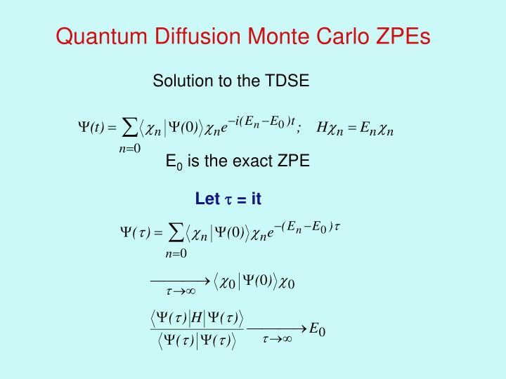 Quantum Diffusion Monte Carlo ZPEs