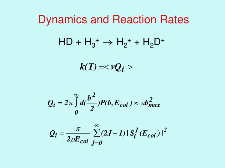 Dynamics and Reaction Rates