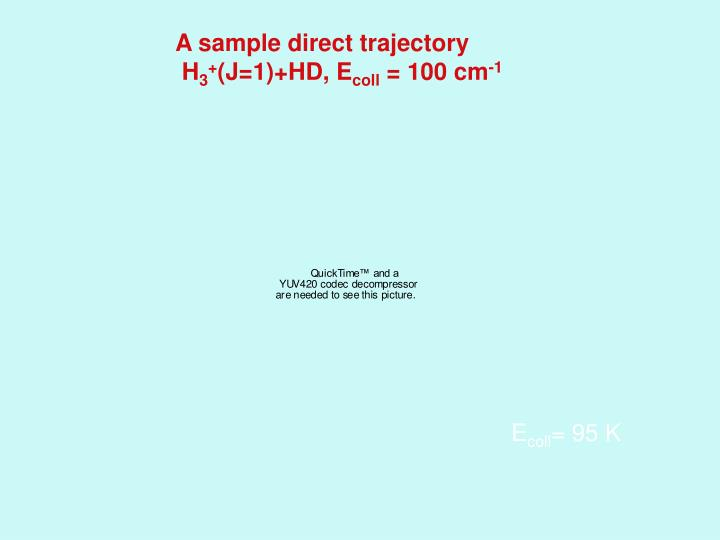 A sample direct trajectory