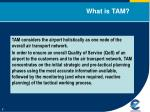 what is tam