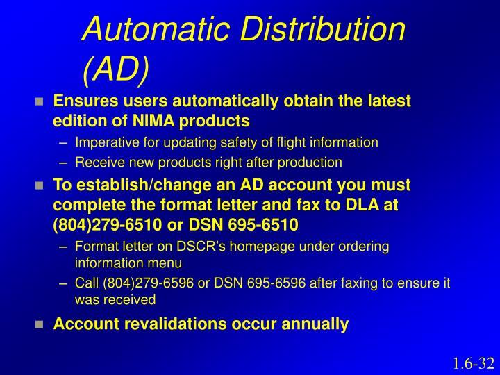 Automatic Distribution (AD)