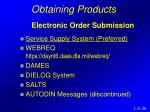 obtaining products