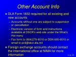 other account info