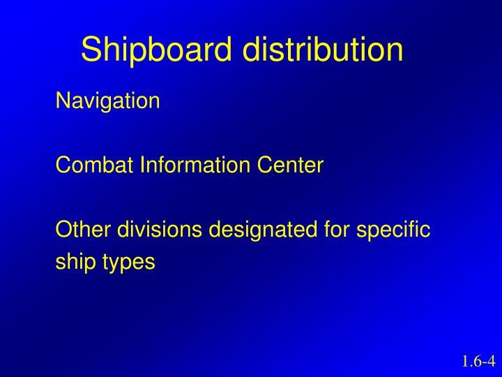 Shipboard distribution