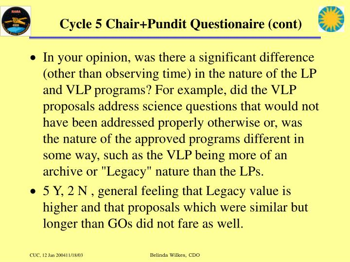 Cycle 5 Chair+Pundit Questionaire (cont)