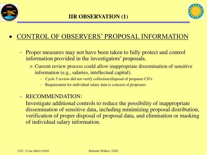 IIR OBSERVATION (1)