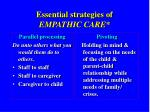 essential strategies of empathic care