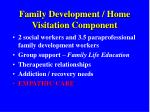 family development home visitation component