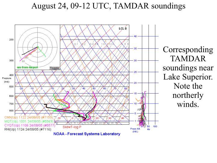 August 24, 09-12 UTC, TAMDAR soundings