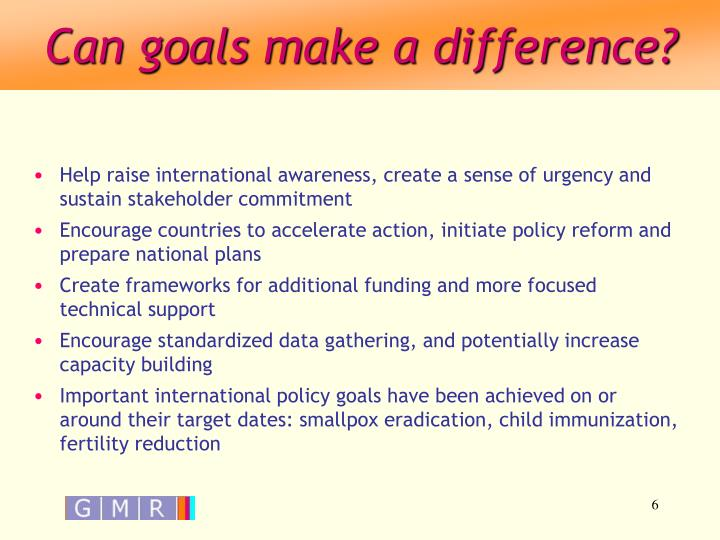 Can goals make a difference?