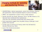 changing methods for assessing and monitoring literacy