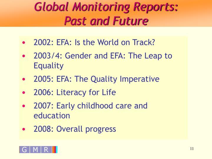 Global Monitoring Reports: