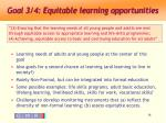 goal 3 4 equitable learning opportunities