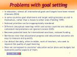 problems with goal setting