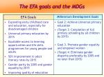 the efa goals and the mdgs