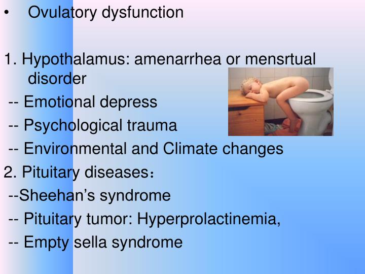 Ovulatory dysfunction