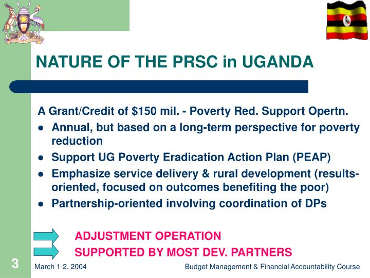 Nature of the prsc in uganda