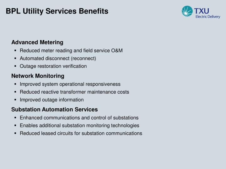 BPL Utility Services Benefits