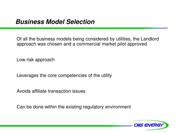 Business Model Selection