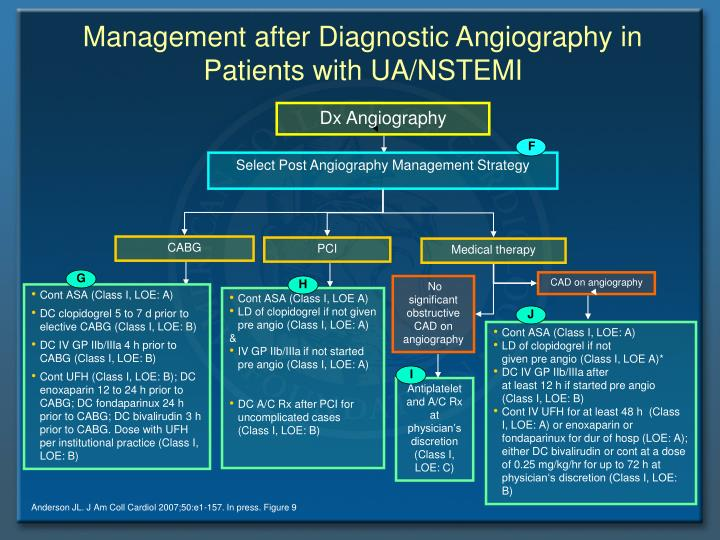 Management after Diagnostic Angiography in Patients with UA/NSTEMI
