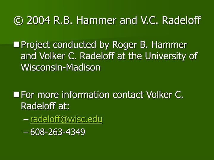 © 2004 R.B. Hammer and V.C. Radeloff