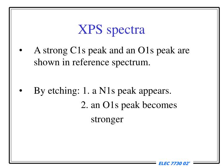 XPS spectra