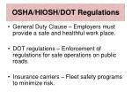 osha hiosh dot regulations