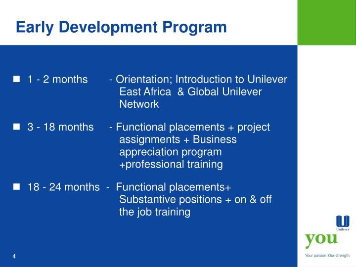 Early Development Program