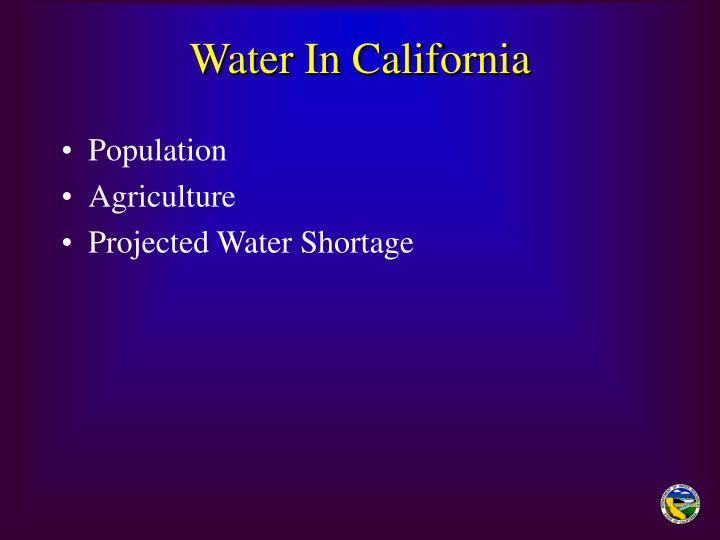 Water in california