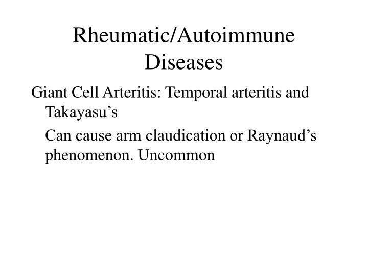 Rheumatic/Autoimmune Diseases