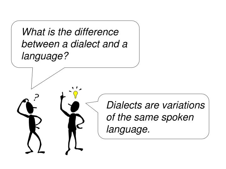 What is the difference between a dialect and a language?