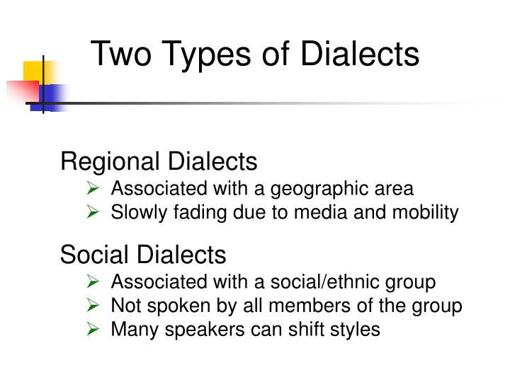 Two Types of Dialects