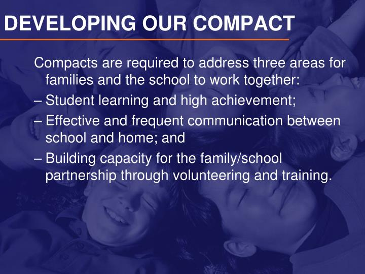 DEVELOPING OUR COMPACT