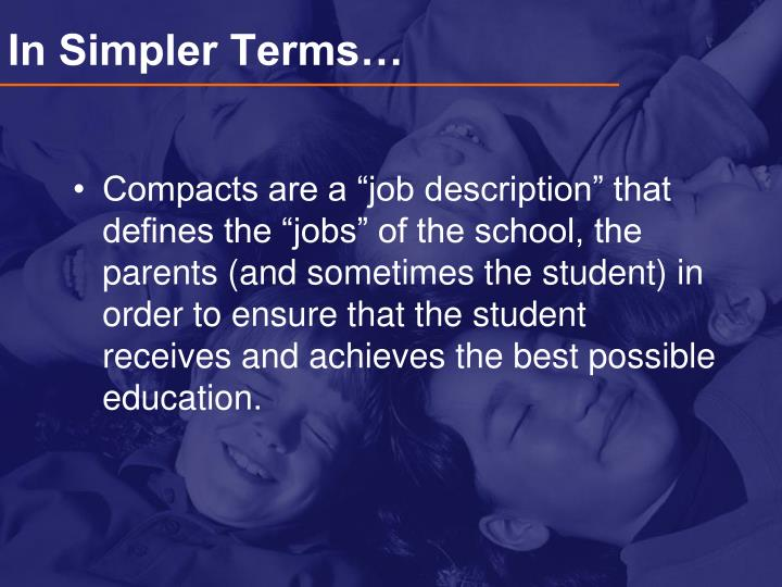 In Simpler Terms…