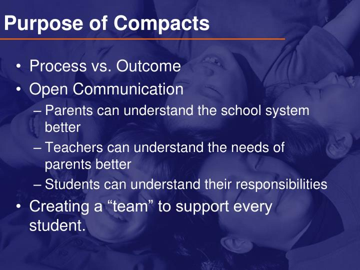 Purpose of Compacts
