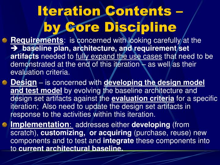 Iteration Contents –