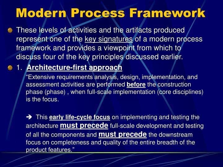 Modern Process Framework