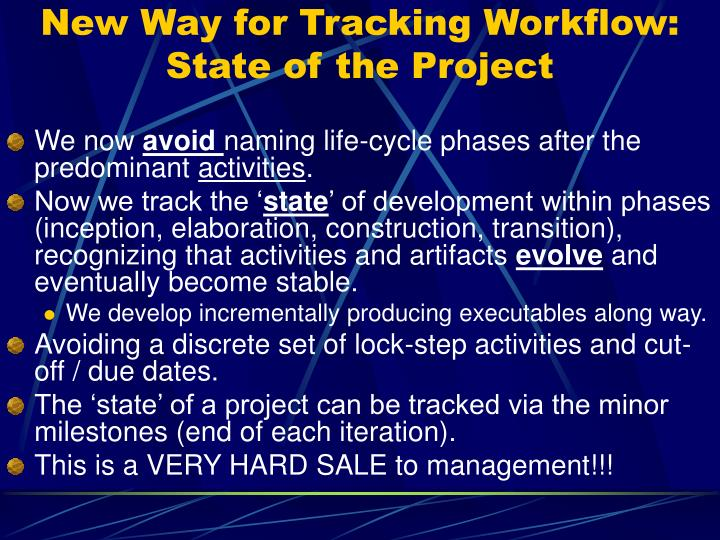 New Way for Tracking Workflow: