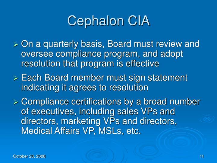 Cephalon CIA