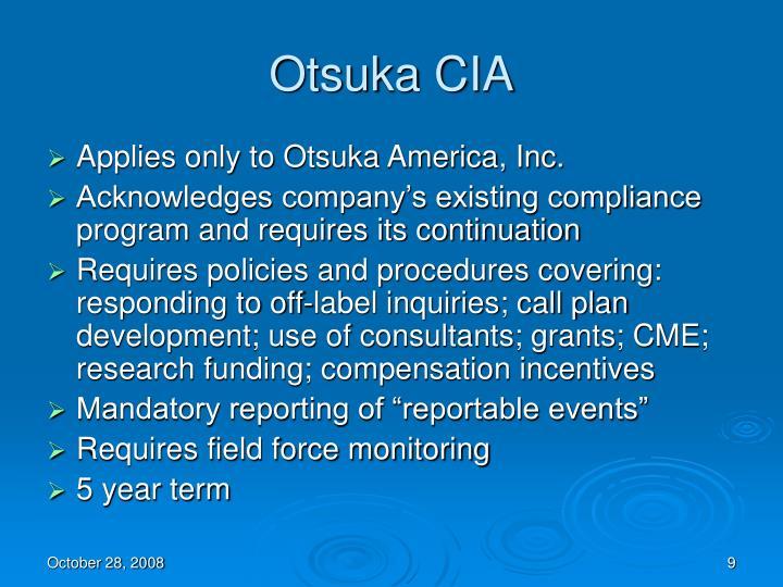 Otsuka CIA