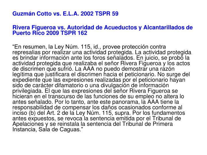 Guzmán Cotto vs. E.L.A. 2002 TSPR 59