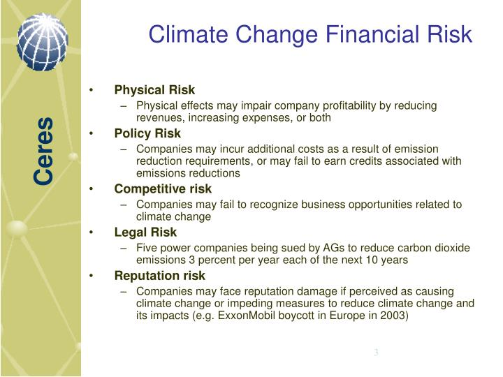 Climate Change Financial Risk