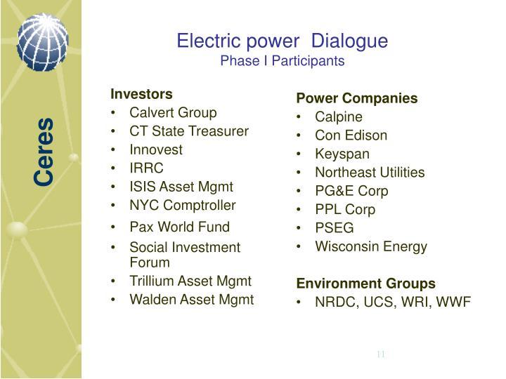 Electric power  Dialogue